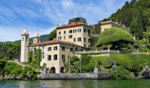 A bela mansão na Villa Olmo