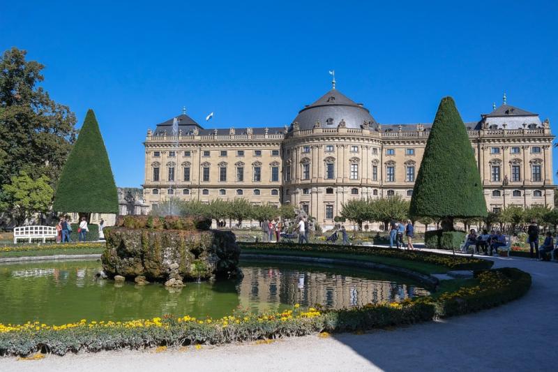 Würzburger Residenz na Rota Romântica da Alemanha