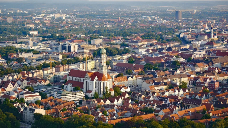 Vista aérea de Augsburg