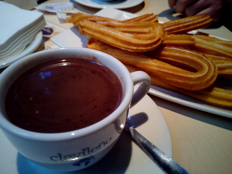 Churros com Chocolate